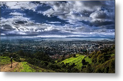 Storm Clouds And Bay Views, Claremont Canyon Regional Preserve Metal Print by Fred Rowe
