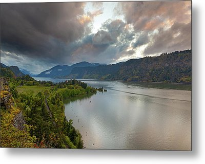 Storm Clouds Over Hood River Metal Print by David Gn