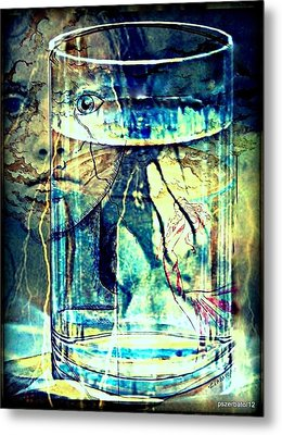 Storm In A Glass Of Water Metal Print