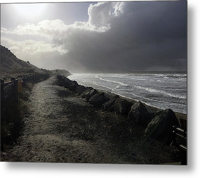 Storm On Strandhill Metal Print by Amy Williams