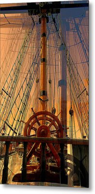 Metal Print featuring the photograph Storm Ship Of Old by Lori Seaman