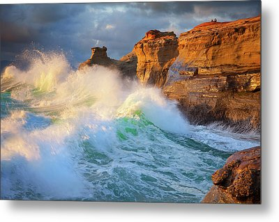 Metal Print featuring the photograph Storm Watchers by Darren White