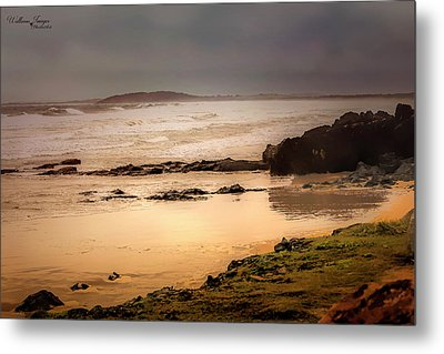 Metal Print featuring the photograph Stormy Day At Gallows Beach by Wallaroo Images