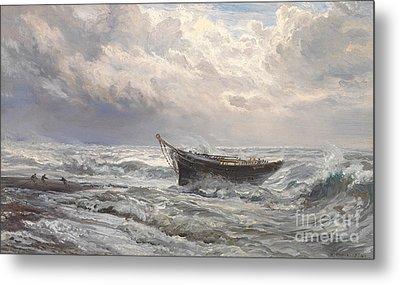 Stormy Seas Metal Print by Henry Moore