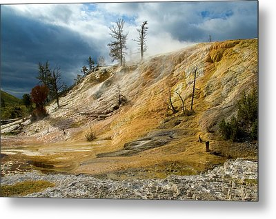 Stormy Skies At Mammoth Metal Print by Steve Stuller
