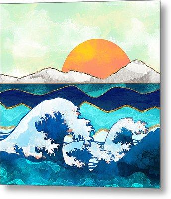 Stormy Waters Metal Print by Spacefrog Designs