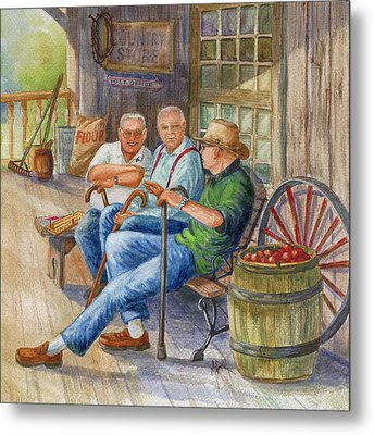 Storyteller Friends Metal Print by Marilyn Smith