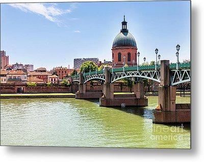 St.pierre Bridge In Toulouse Metal Print