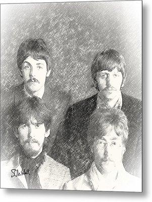 Strawberry Beatles  Metal Print