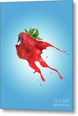 Metal Print featuring the photograph Strawberry by Juli Scalzi