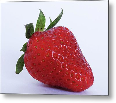 Strawberry Metal Print by Julia Wilcox