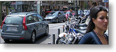 Street Life On Toledo Street - Madrid Metal Print by Thomas Bussmann
