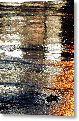 Street Reflections 2 Metal Print by Beth Akerman