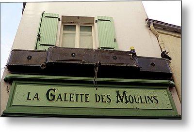 Streets Of Paris. Montmartre Metal Print