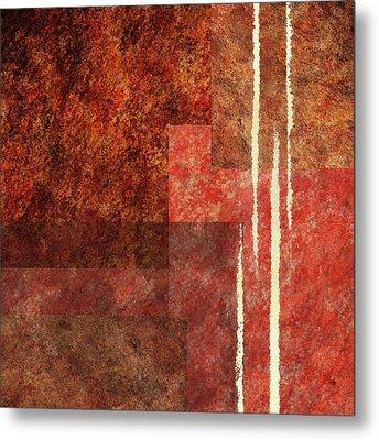 Striking Abstract I Metal Print by Irina Sztukowski