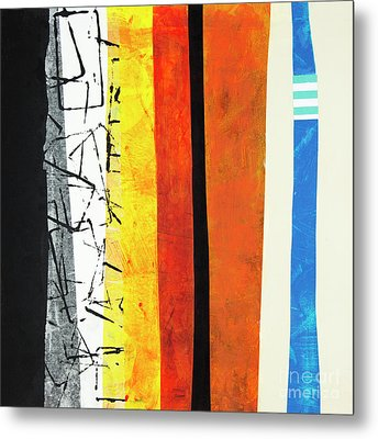 Metal Print featuring the mixed media Stripes by Elena Nosyreva