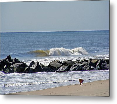 Strollin' The Jersey Shore Metal Print
