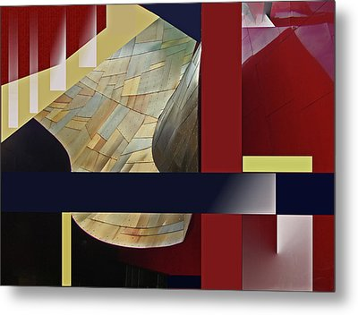 Metal Print featuring the digital art Structure 0217 by Walter Fahmy
