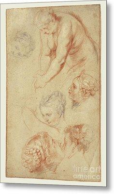 Studies Of Women By Peter Paul Rubens Metal Print