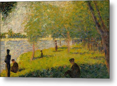 Study For A Sunday On La Grande Jatte Metal Print by Georges-Pierre Seurat