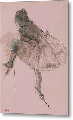 Study Of A Ballet Dancer Metal Print by Edgar Degas
