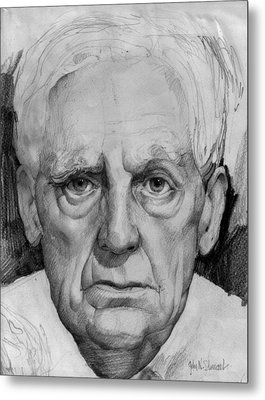 Study Of An Older Man Metal Print