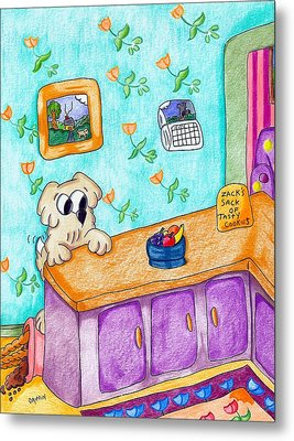 Stuff The Stinker And The Bag Of Cookies Metal Print by James Griffin