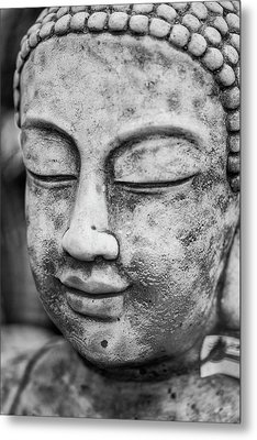 Stunning Buddha Statue Portrait With Shallow Depth Of Field And  Metal Print by Matthew Gibson