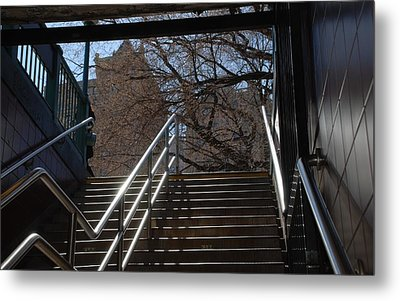 Subway Stairs Metal Print by Rob Hans