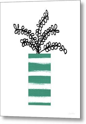 Succulent In Green Pot 1- Art By Linda Woods Metal Print
