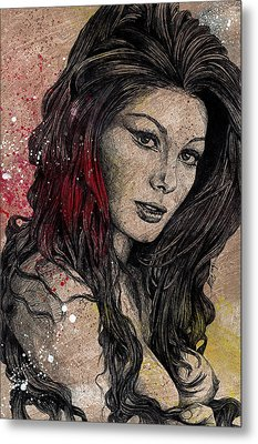 Sugar, Honey, Pepper - Tribute To Edwige Fenech Metal Print by Marco Paludet