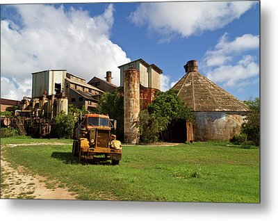Sugar Mill And Truck Metal Print by Roger Mullenhour