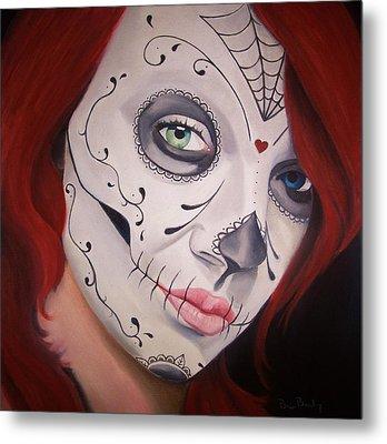 Sugar Skull Girl #1 Metal Print