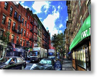 Sullivan Street In Greenwich Village Metal Print by Randy Aveille