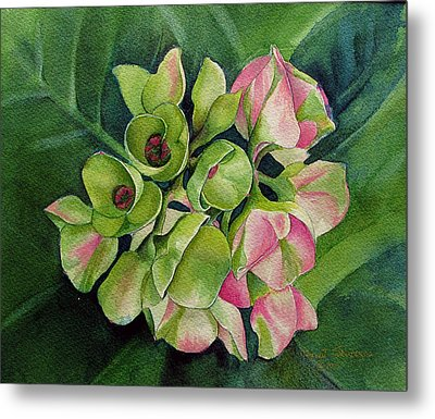 Metal Print featuring the painting Summer Beauty by Margit Sampogna