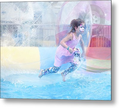 Metal Print featuring the photograph Summer Fun by Theresa Tahara