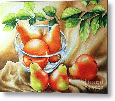 Summer Pears Metal Print by Inese Poga