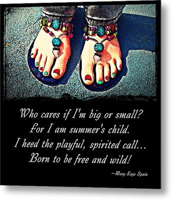 Metal Print featuring the photograph Summer's Child by KayeCee Spain
