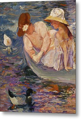Metal Print featuring the painting Summertime By Mary Cassatt 1894 by Movie Poster Prints