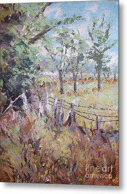 Metal Print featuring the painting Summertime by Cynthia Parsons