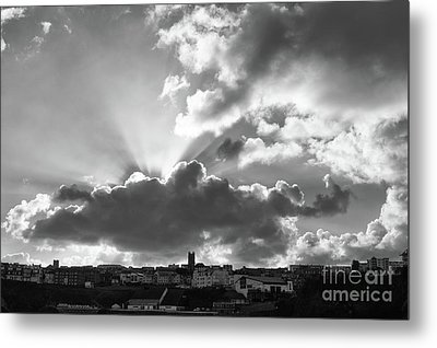 Metal Print featuring the photograph Sun Beams Over Church by Nicholas Burningham