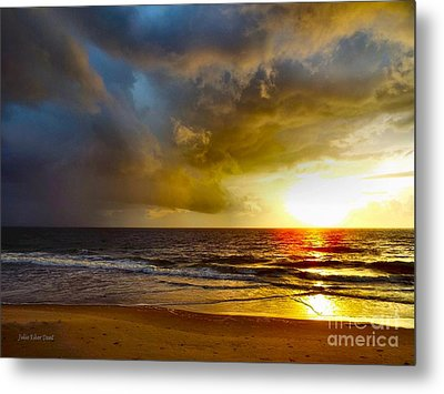 Sun Chasing The Storm Away Metal Print