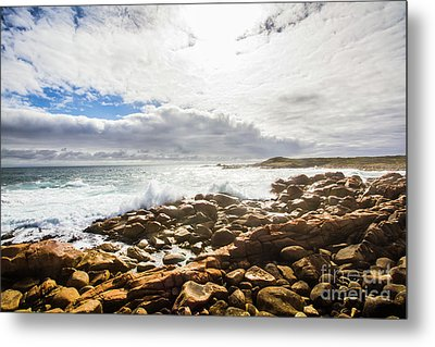Sun Rising Over The Ocean Metal Print by Jorgo Photography - Wall Art Gallery