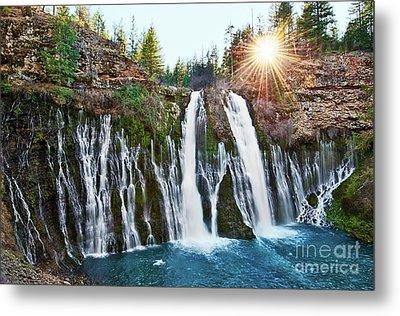 Sunburst Falls - Burney Falls Is One Of The Most Beautiful Waterfalls In California Metal Print