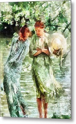 Sunday Afternoon By The Lake Metal Print by Shirley Stalter