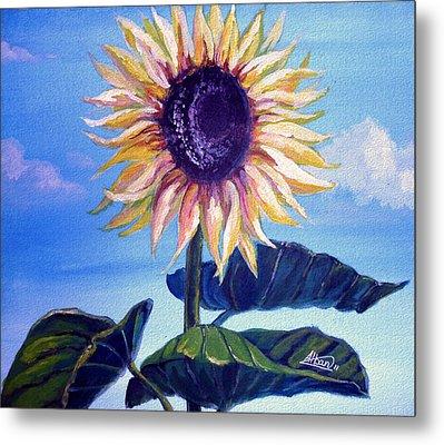 Sunflower Metal Print by Alban Dizdari