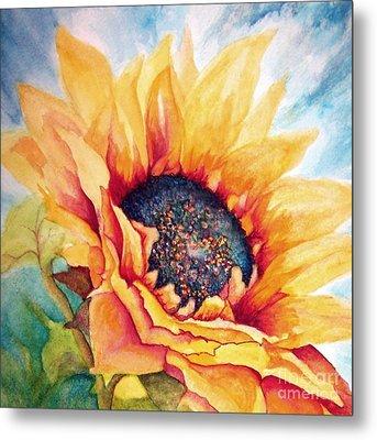 Sunflower Joy Metal Print