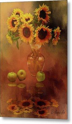 Sunflower Reflections Metal Print