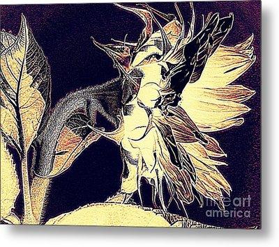 Sunflower - Tribal Harvest Metal Print