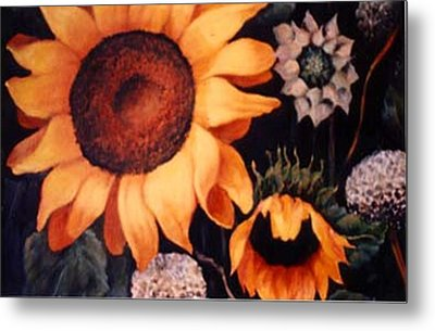 Sunflowers And More Sunflowers Metal Print by Jordana Sands